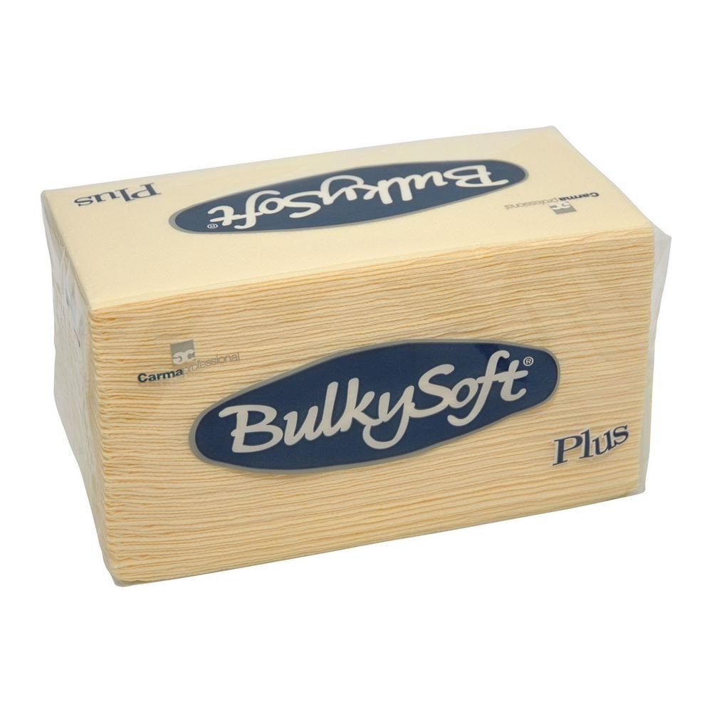 Bulkysoft Luxe servet 2-laags creme 38x38cm 1/8 vouw 800 stuks