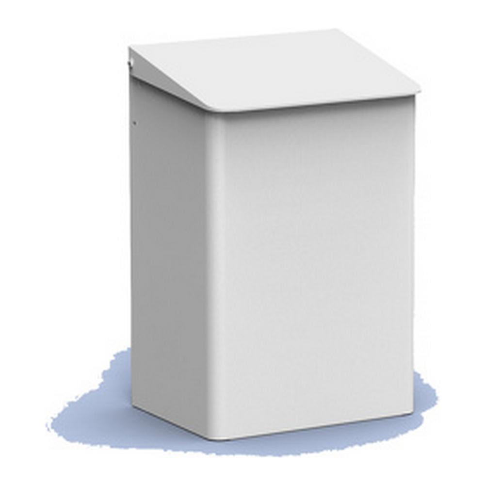 MediQoline | Afvalbak | Gesloten | Wit | Inhoud: 15 liter