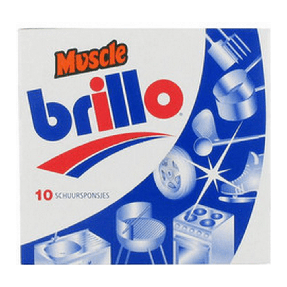 Mr Muscle Brillo Schuursponsjes 10 stuks