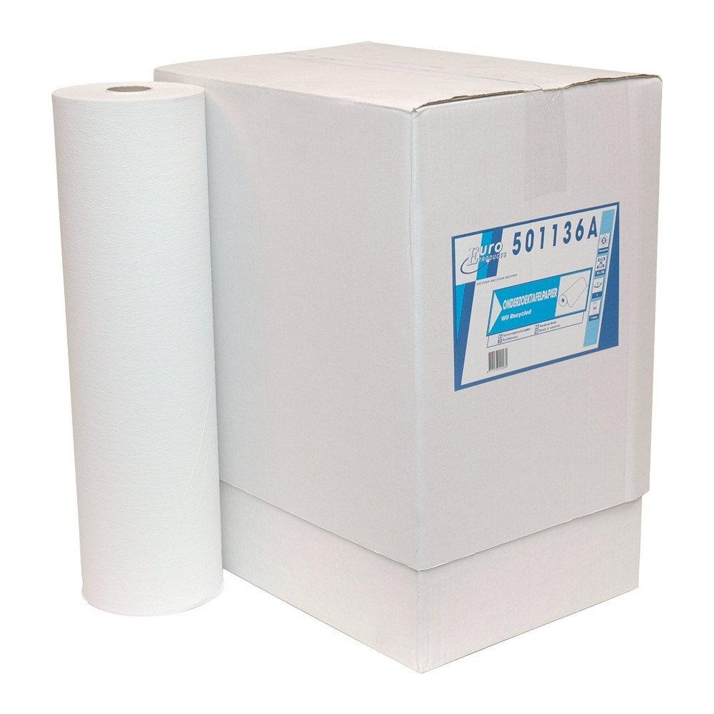 Euro Products | Onderzoekstafelpapier | Wit 1-laags | 50 cm | 5 x 150 meter