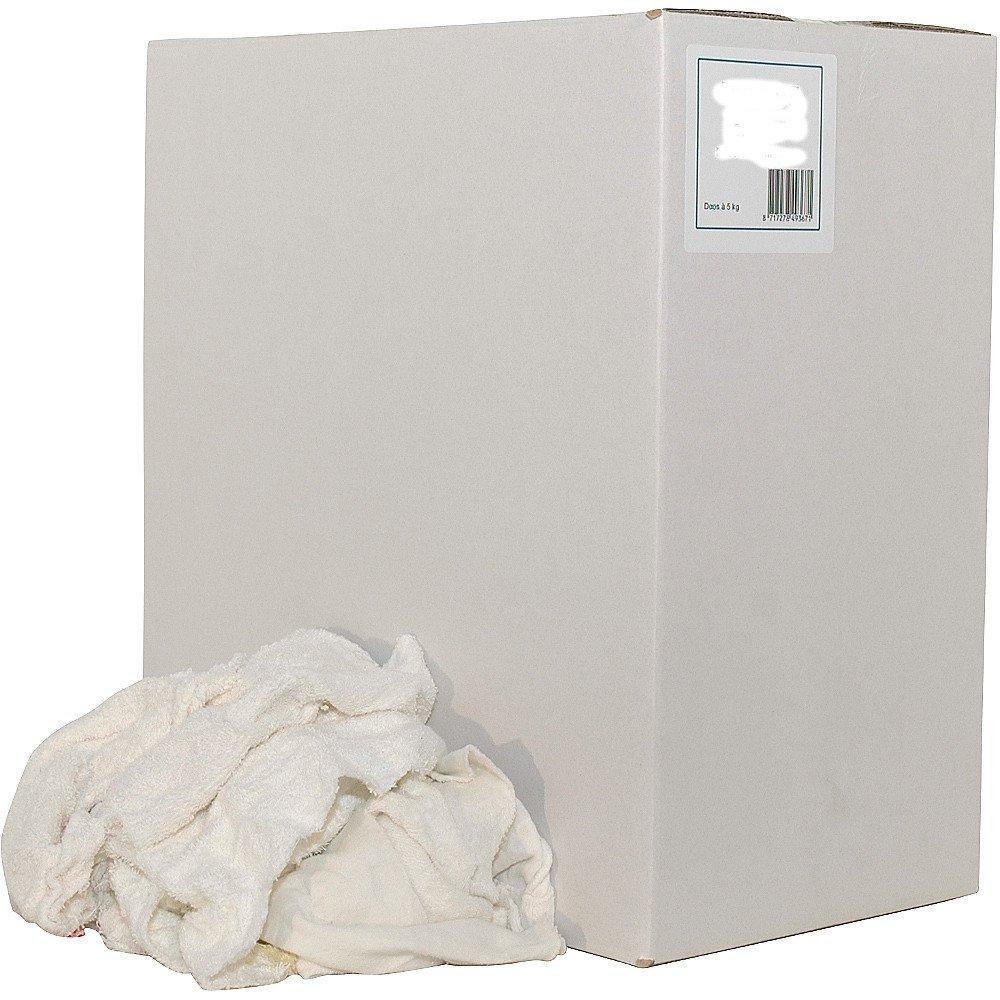 Euro Products | Poetsdoek | Witte badstof handdoeken gesneden | Doos 5 kg