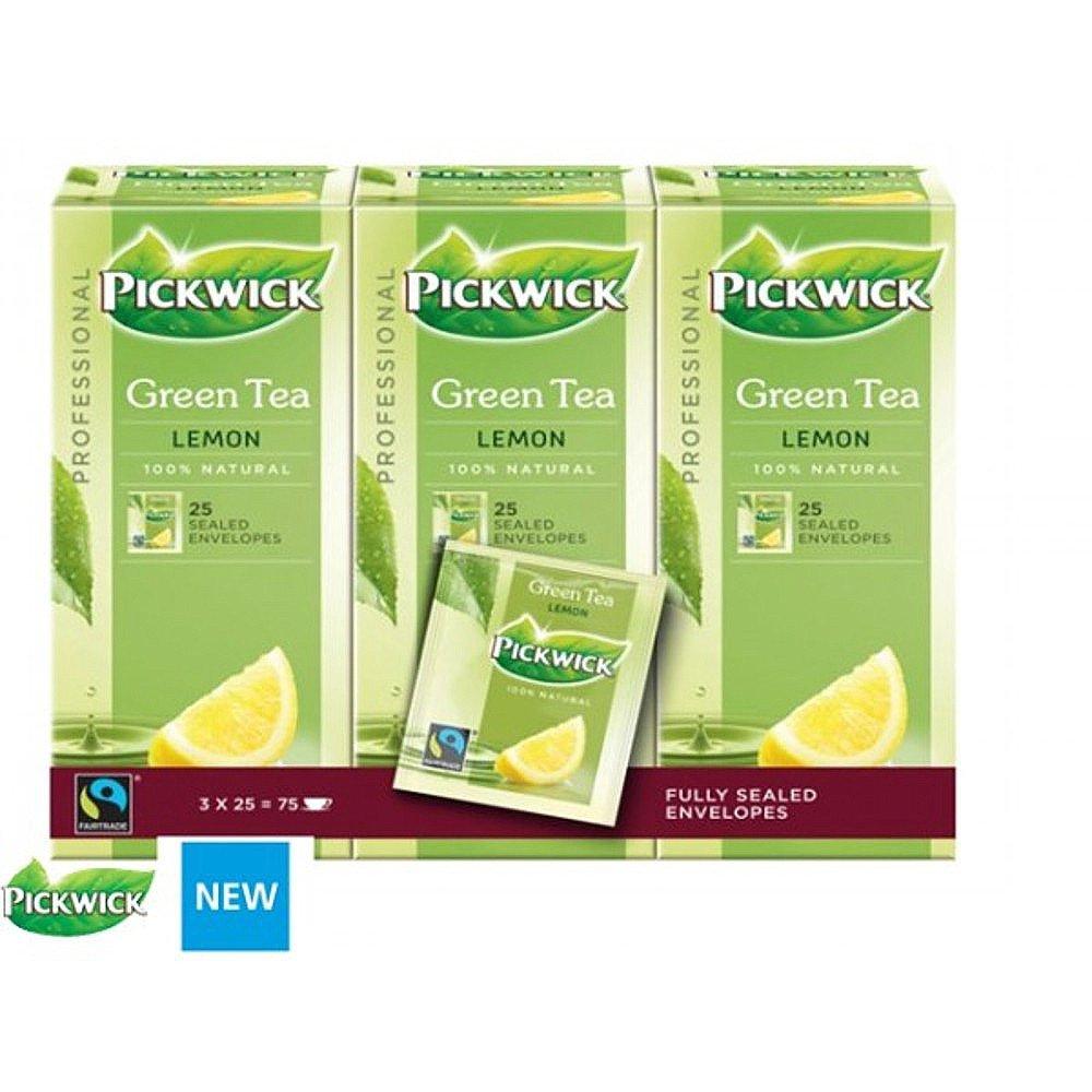 Pickwick | Groene thee Original Lemon | Doos 75 stuks