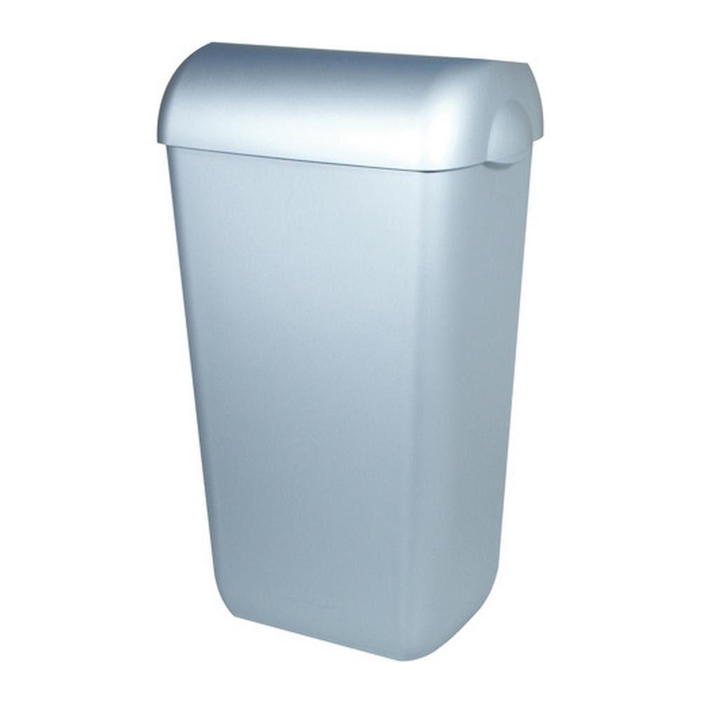 PlastiQline | Afvalbak | Half open | RVS-look | Inhoud: 43 liter