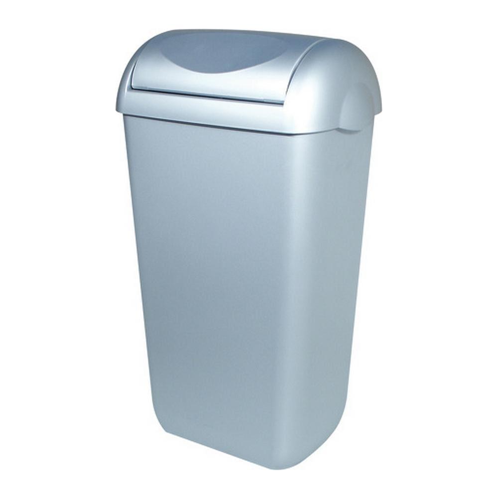 Plastiqline afvalbak swing deksel kunstof RVS look 23 liter