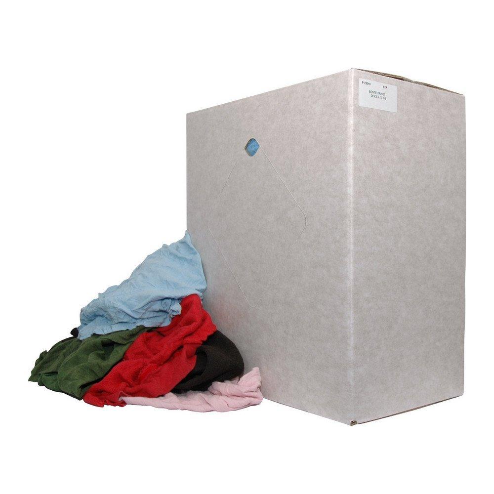 Poetsdoek dikke bonte tricot lappen doos 10 kg
