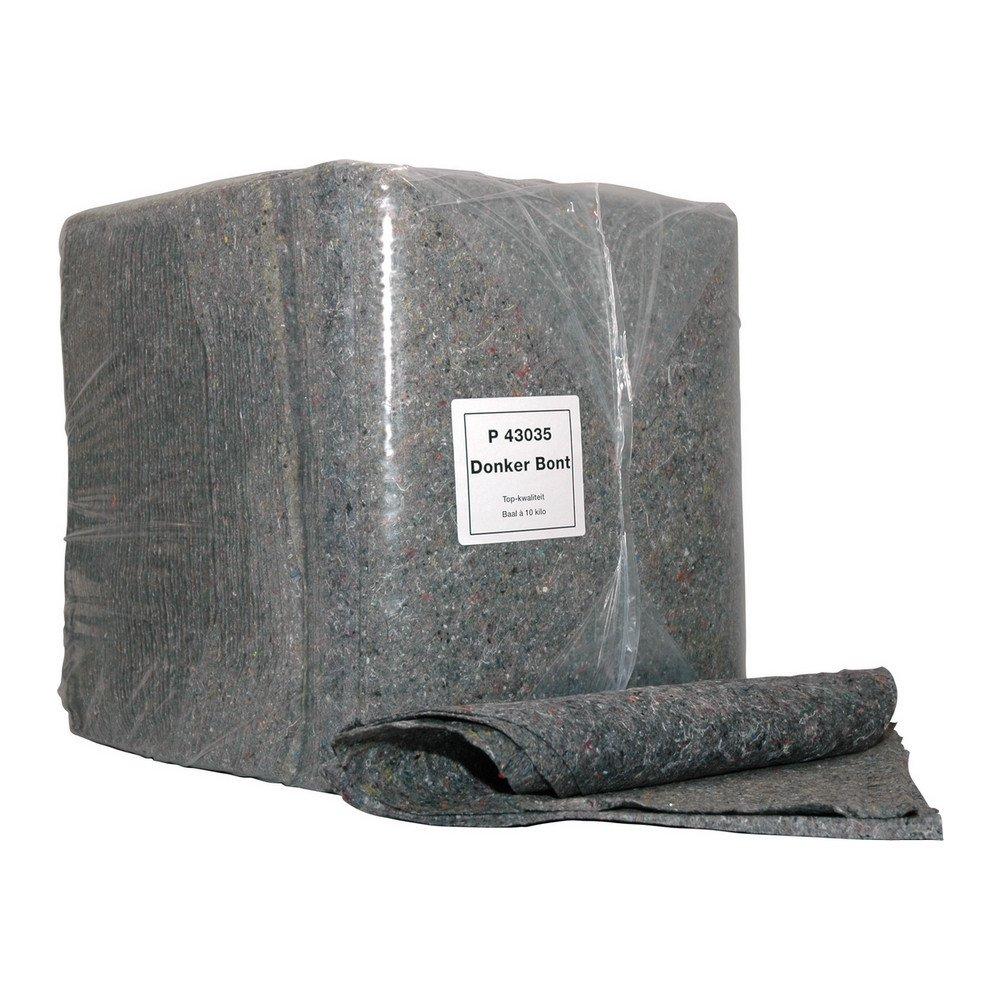 Poetsdoek donkerbont baal 10kg