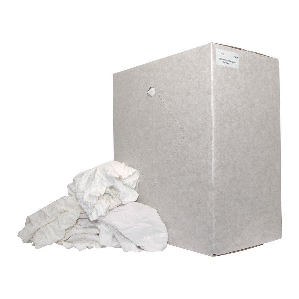 Poetsdoek witte lappen scheepskwaliteit doos 10 kg