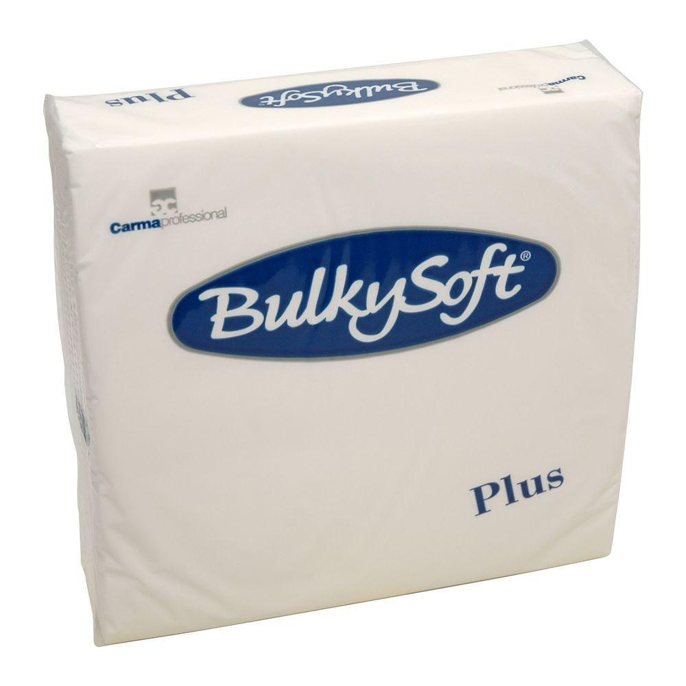 Bulkysoft Witte luxe servet 2-laags 38x38cm kwart vouw 1680 stuks