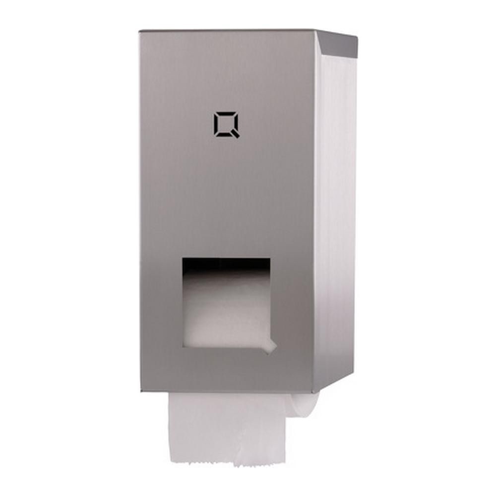 Qbicline | Toiletrolhouder | 2rols | RVS