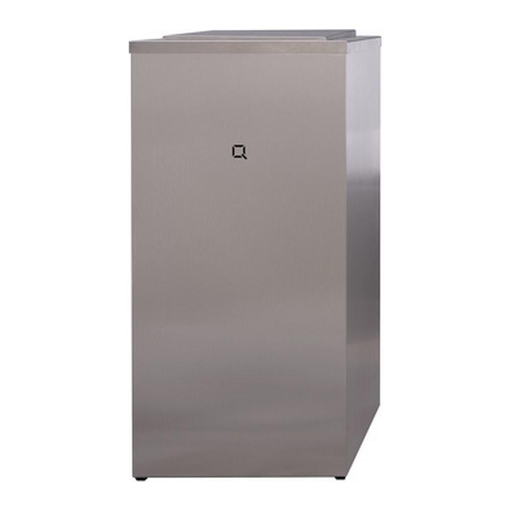 Qbicline | Afvalbak | Gesloten | RVS | Inhoud: 85 liter