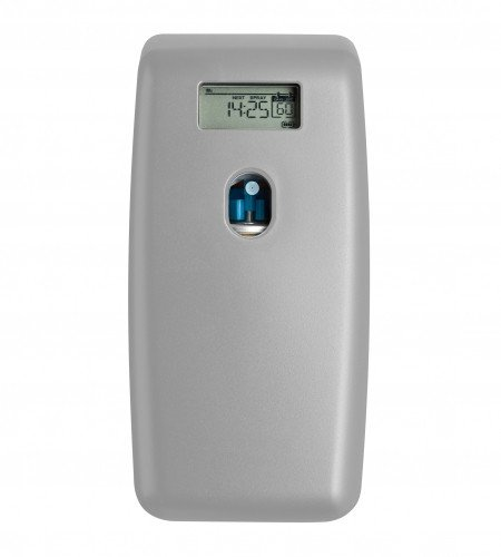 Combodeal | Euro Products Quartz | Luchtverfrisser Digitaal + Aerosol navullingen 12 x 100 ml | Zilver