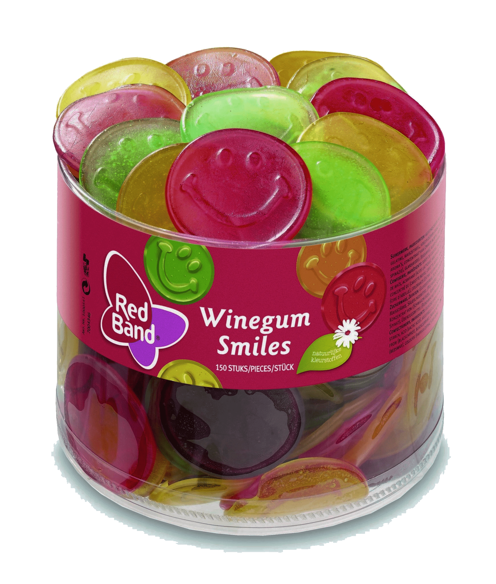 Red Band   Winegum Smiles   150 stuks