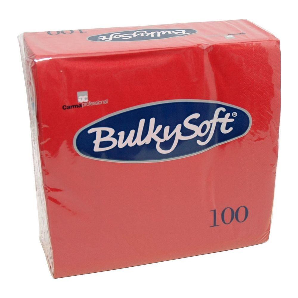 Bulkysoft Rode servetten 40x40cm kwart vouw 2-laags 2000 stuks
