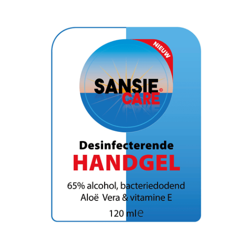 Sansie care desinfecterende handgel 24 x 120 ml