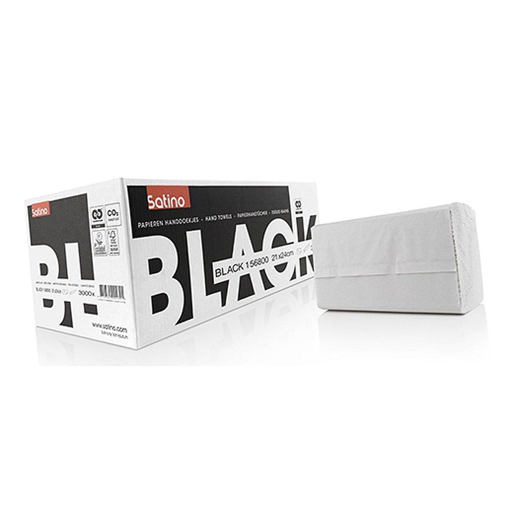 Satino Black Z-vouw handdoekjes 1-laags 21x24 cm 3000 stuks