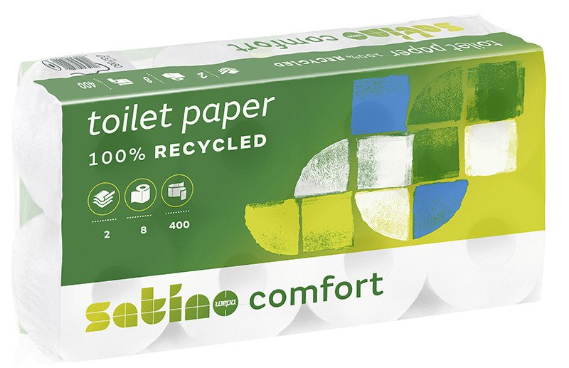 Satino Comfort 062480 recycled tissue 2-laags 40 rollen x 400 vel