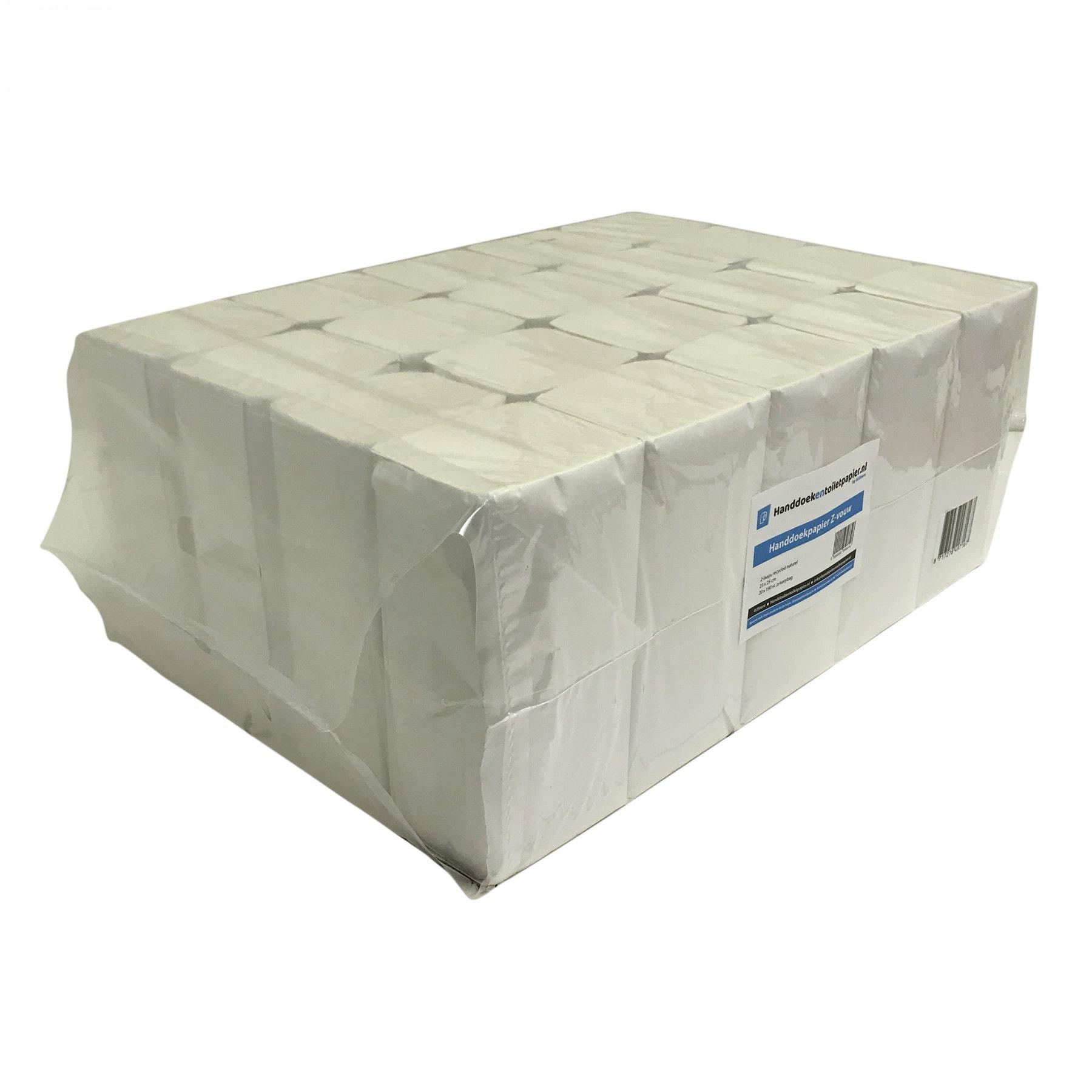 4UStore | Z-vouwhanddoekjes | 2-laags recycled | 3800 stuks