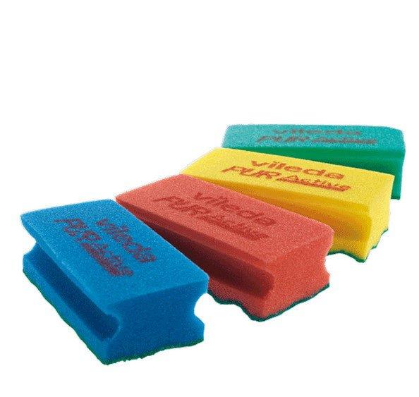 Vileda PurActive spons rood-groen 10 stuks