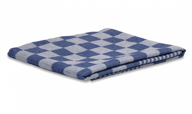 Wecoline | Theedoek | Blauw geblokt | 70 x 70 cm | 12 stuks
