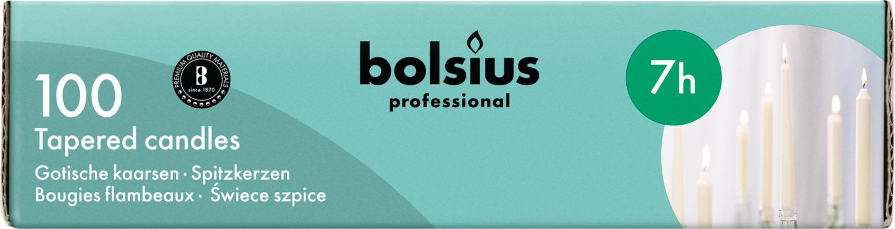 Bolsius | VOORDEELVERPAKKING | Gotische kaarsen | Wit | 200 stuks