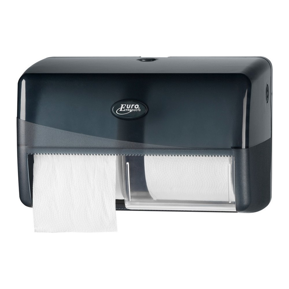 Euro Products Pearl Toiletrolhouder zwart