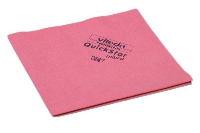 Vileda | Quikstar | Microvezeldoek | Rood | 5 stuks