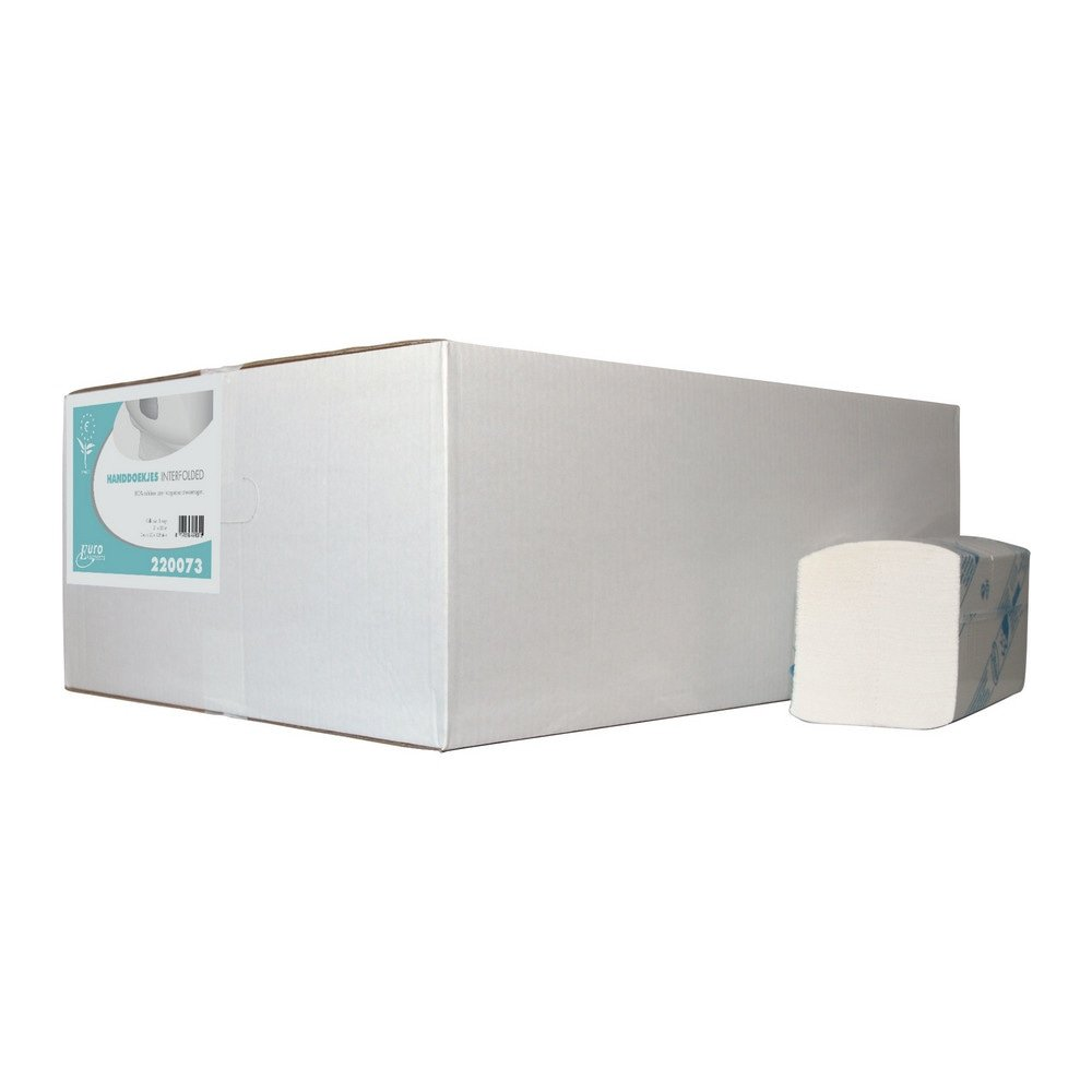 Euro Products Vouwhanddoekjes 3-laags Interfold 22 x 32 cm 2560 stuks
