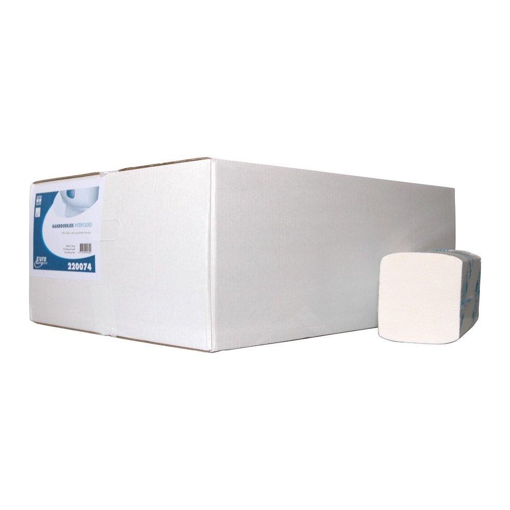 Euro Products | Vouwhanddoekjes 3-laags | Interfold | Cellulose | 42 x 22 cm | 2000 stuks