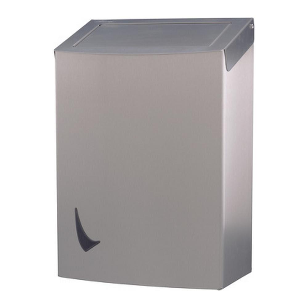 Wings | Afvalbak | Gesloten | Pushdeksel en binnenring | RVS | Inhoud: 20 liter
