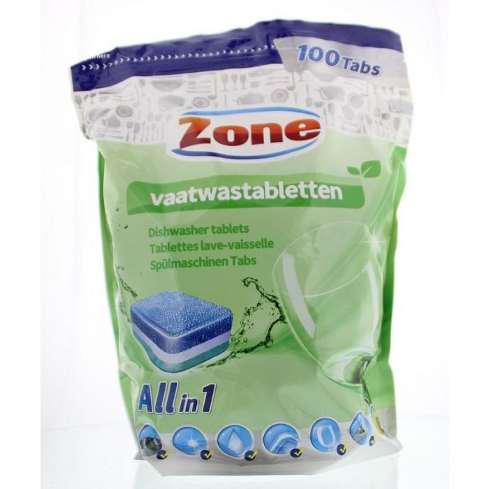 Zone | All- in- one vaatwastabletten | 6 x 100 stuks