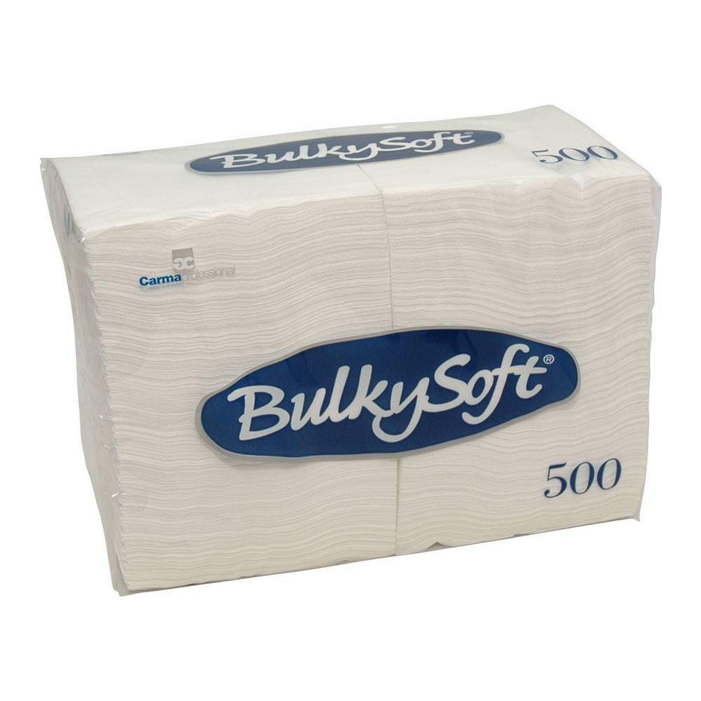 Bulkysoft Servetten 1-laags 1/4 vouw wit 24x24cm 3000 stuks