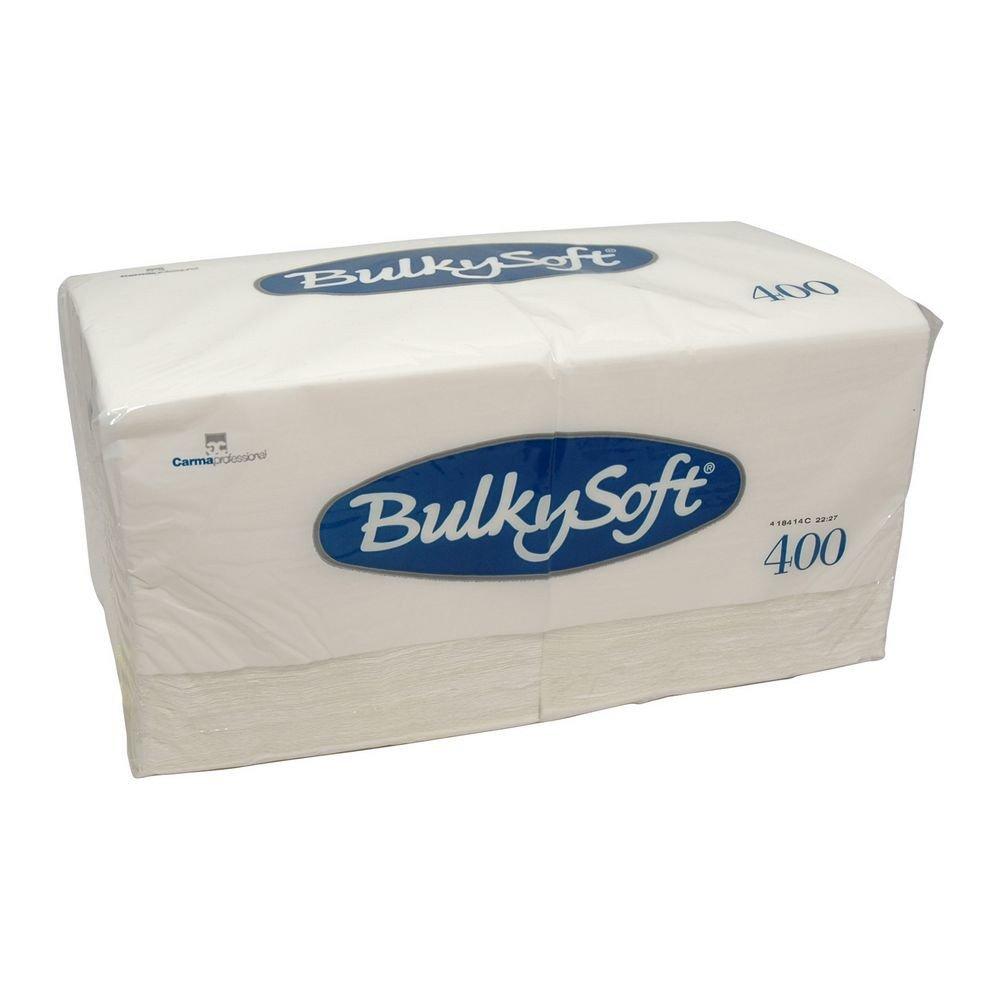 Bulkysoft Servetten 1-laags 1/4 vouw wit 33x33cm 10x400 stuks