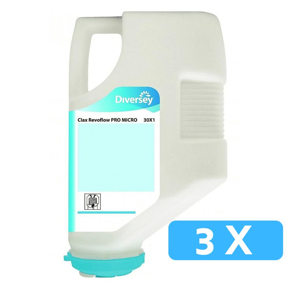 Clax Revoflow PRO Micro 30X1 hoofdwasmiddel 3 x 4 kg