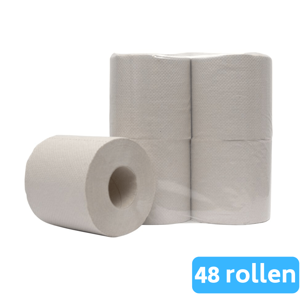 Toiletpapier 1-laags Crèpe Naturel 48 x 400 vel traditioneel