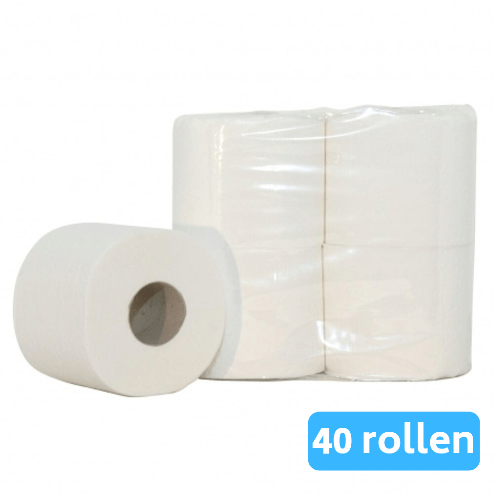 Euro Products | Toiletpapier | 2-laags | Cellulose | 10 x 4 rollen