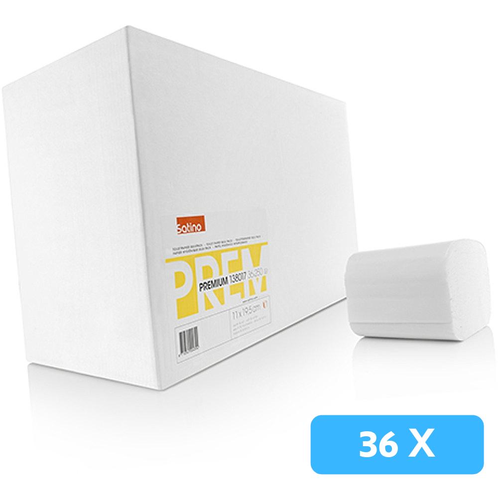 Satino bulkpack toiletpapier 2-laags wit 36x250 vel.