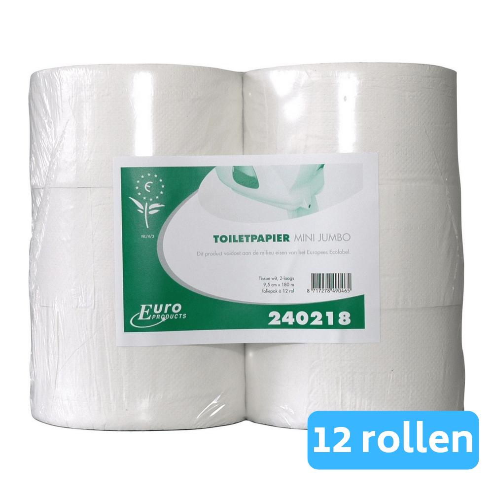Toiletpapier Mini jumborol 2-lgs eco tissue 12x180 meter