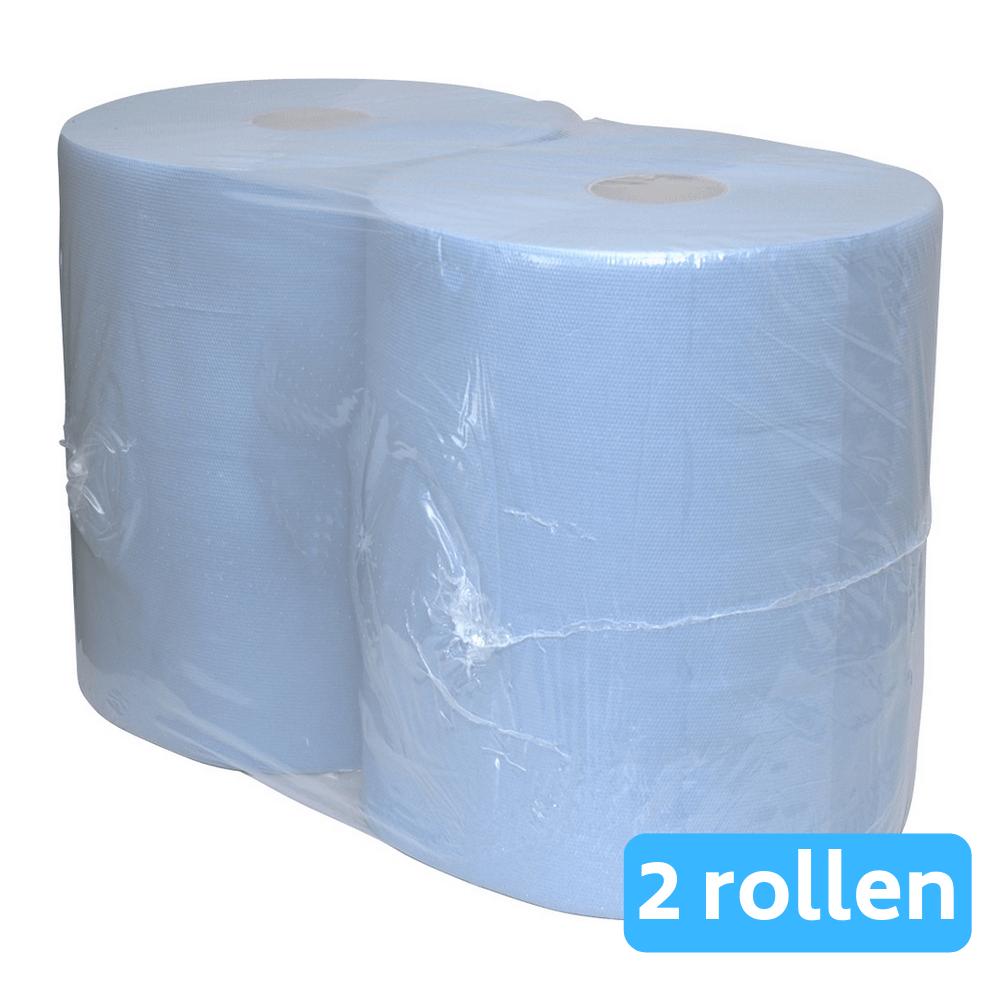 Industriepapier blauw verlijmd 3-laags 2 x 190 meter