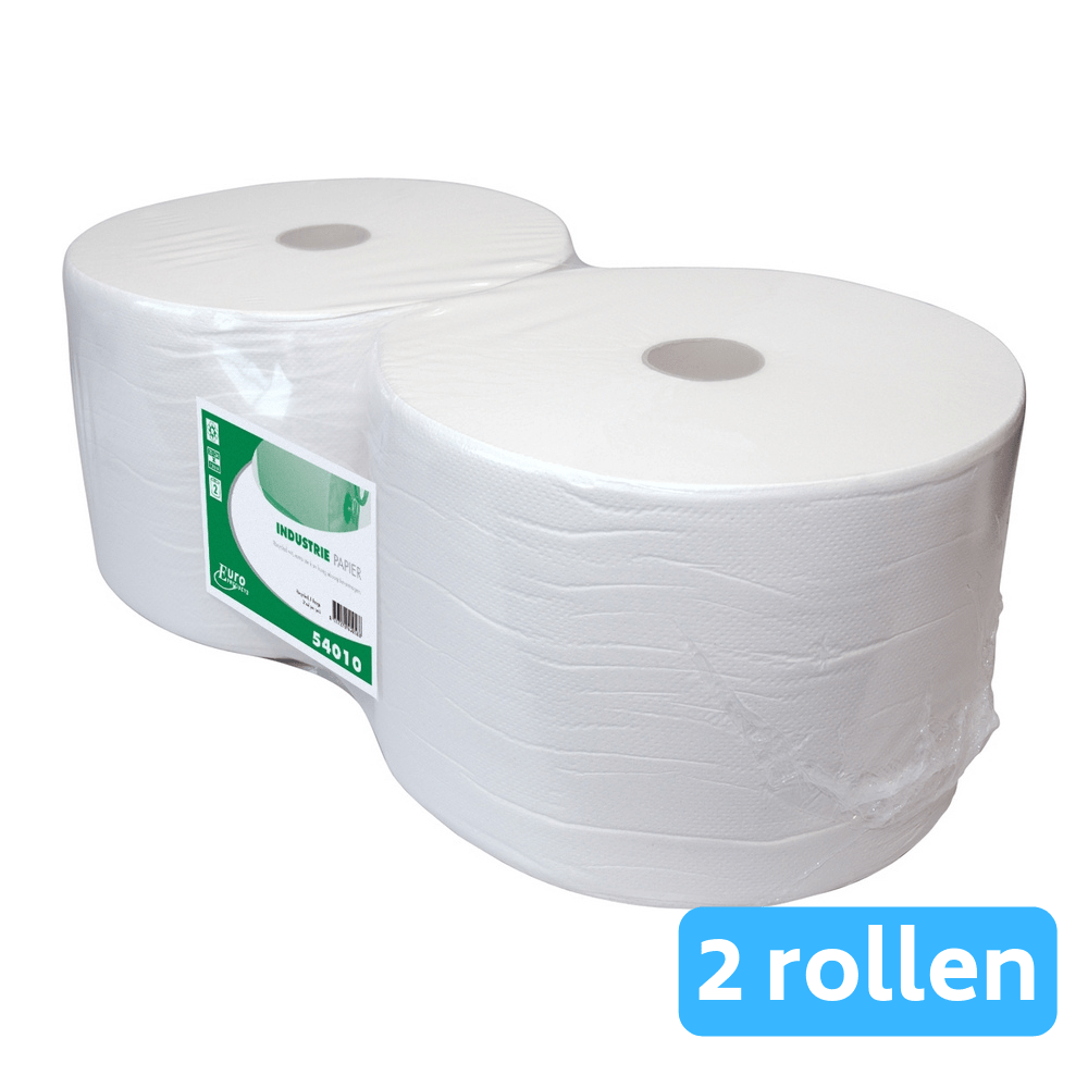 Industriepapier rec. wit 1-lg 2 x 1000mtr 23cm