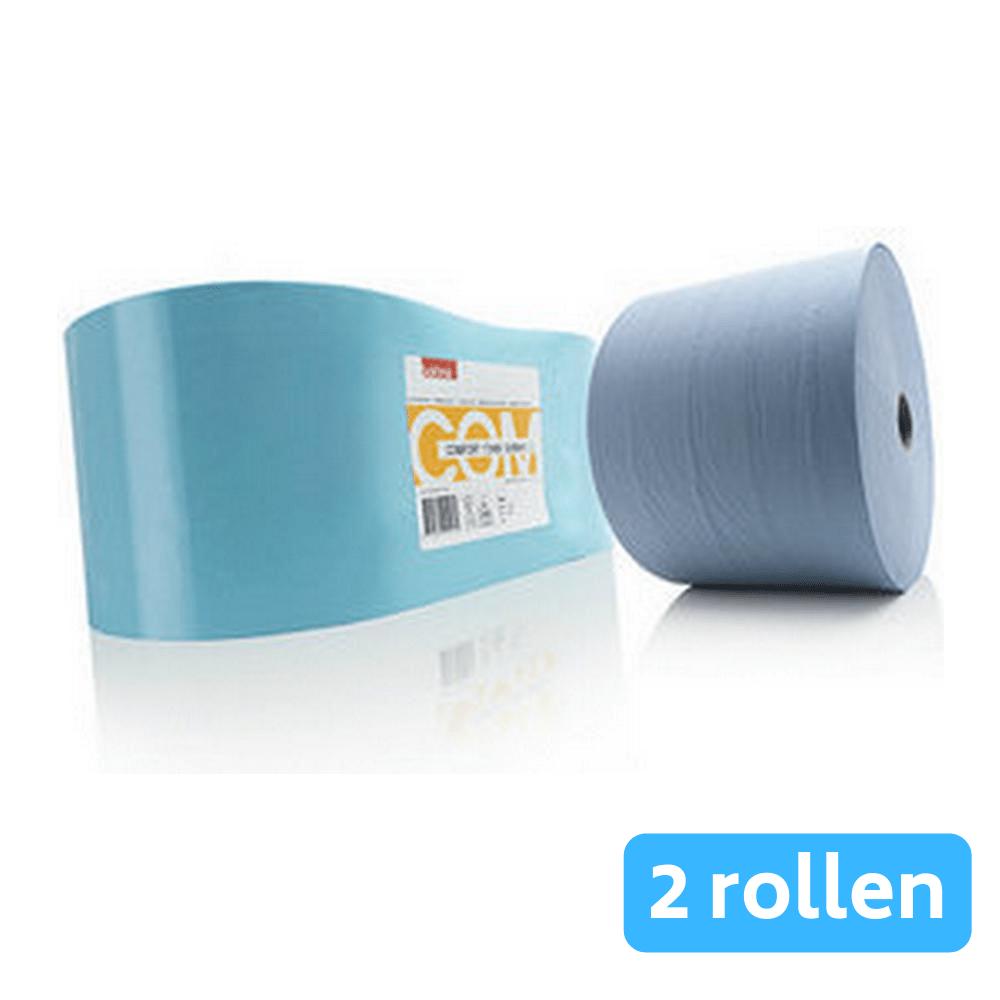 Satino comfort poetsrollen blauw 2-laags