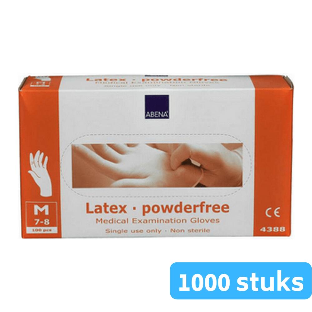 Handschoen vinyl wit gepoederd medium 10 x 100 handschoenen