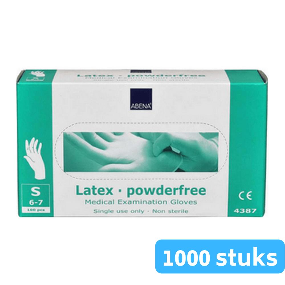 Handschoen latex wit gepoederd S 10 x 100 stuks