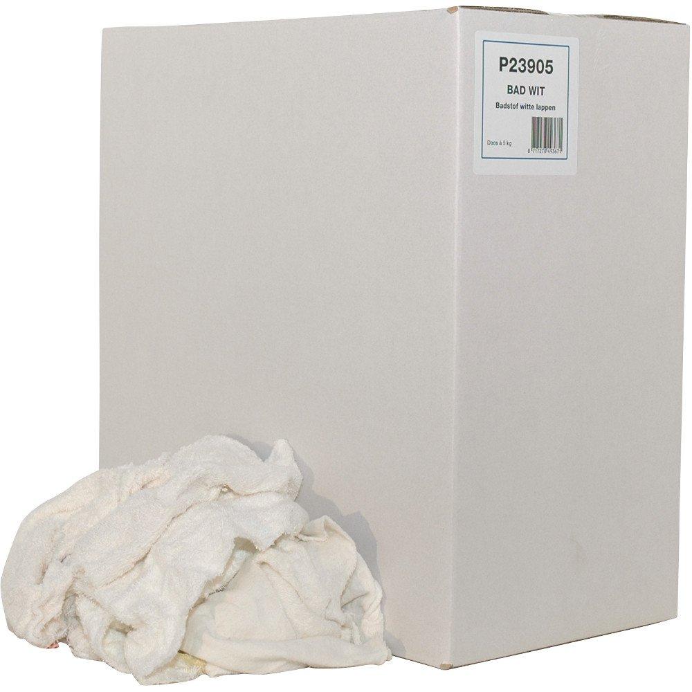 Euro Products | Poetsdoek | Witte Badstof gesneden | Doos 5 kg