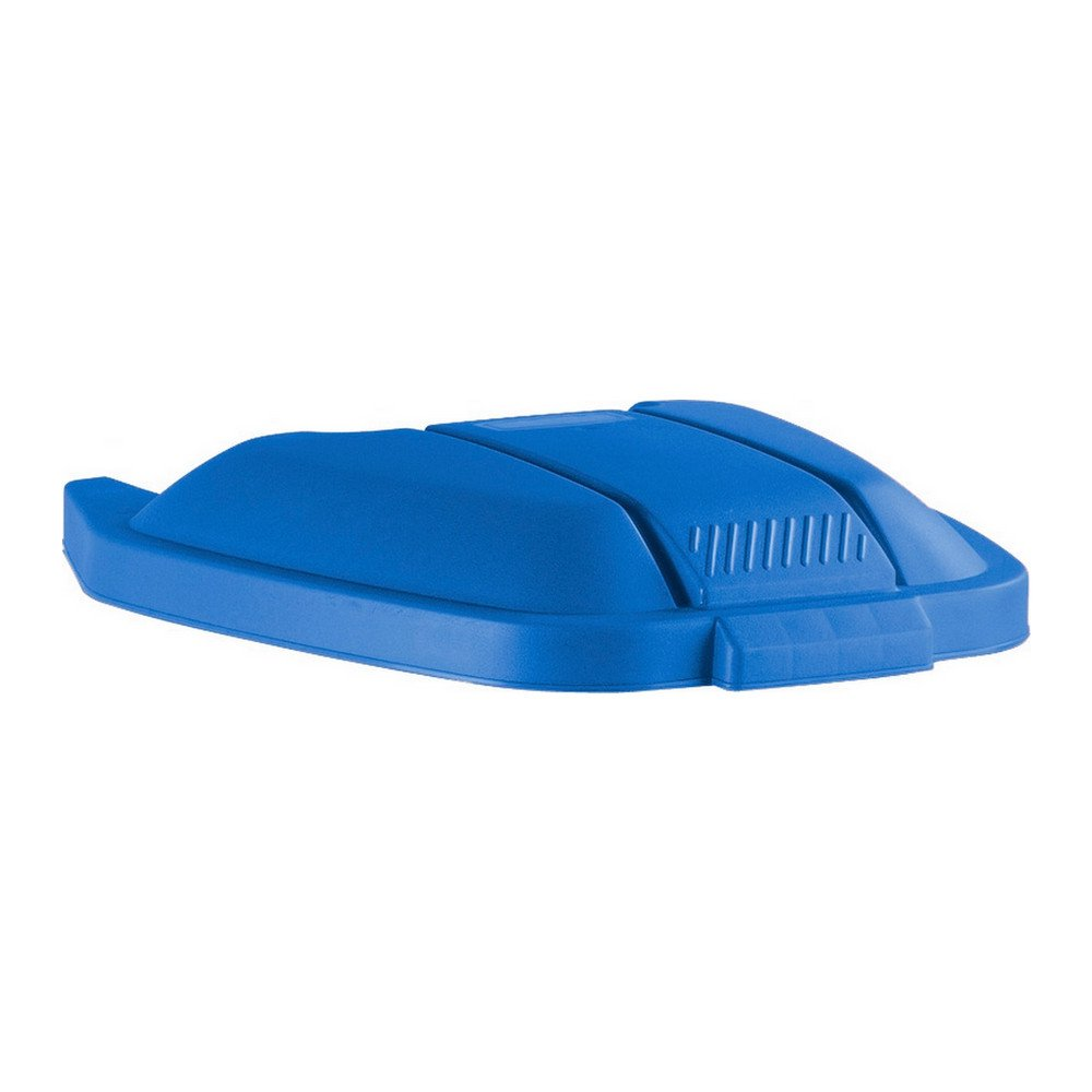 Rubbermaid deksel mobiele container blauw