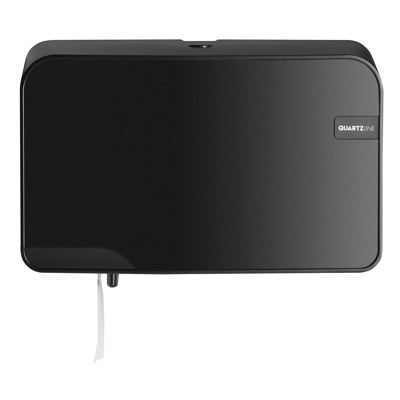Euro Products Quartz Coreless Duo Toiletrolhouder zwart