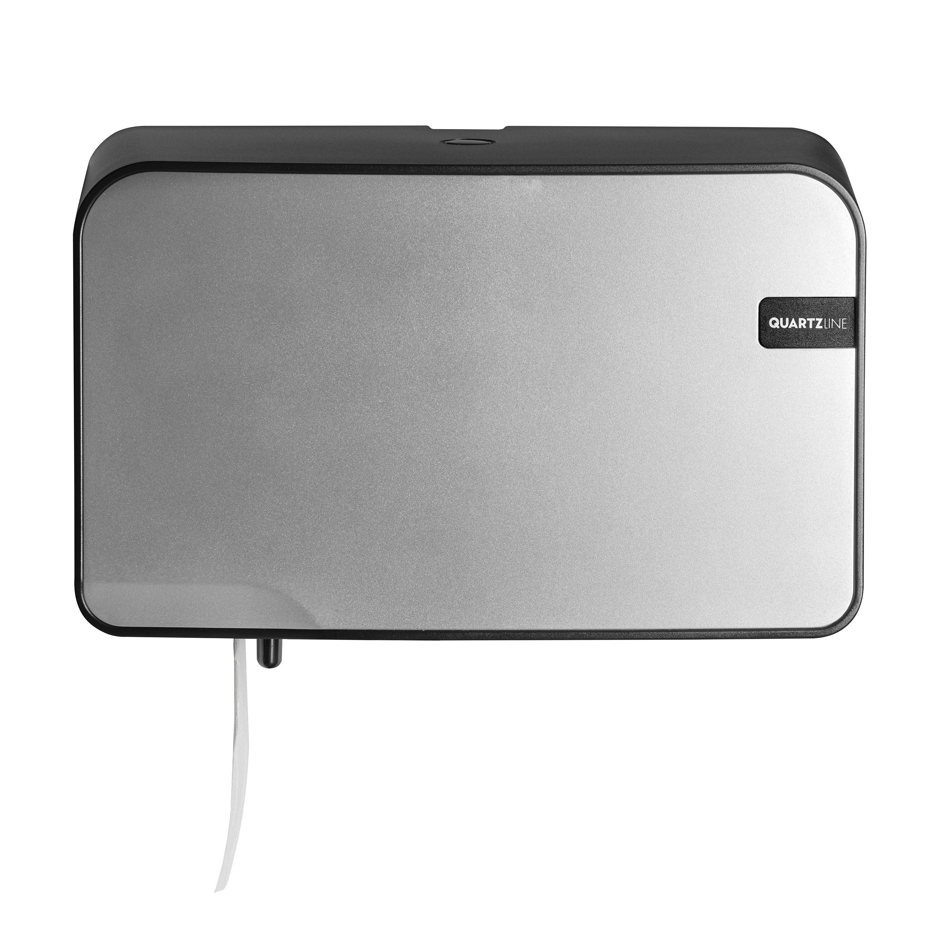 Euro Products Quartz Coreless Duo Toiletrolhouder zilver