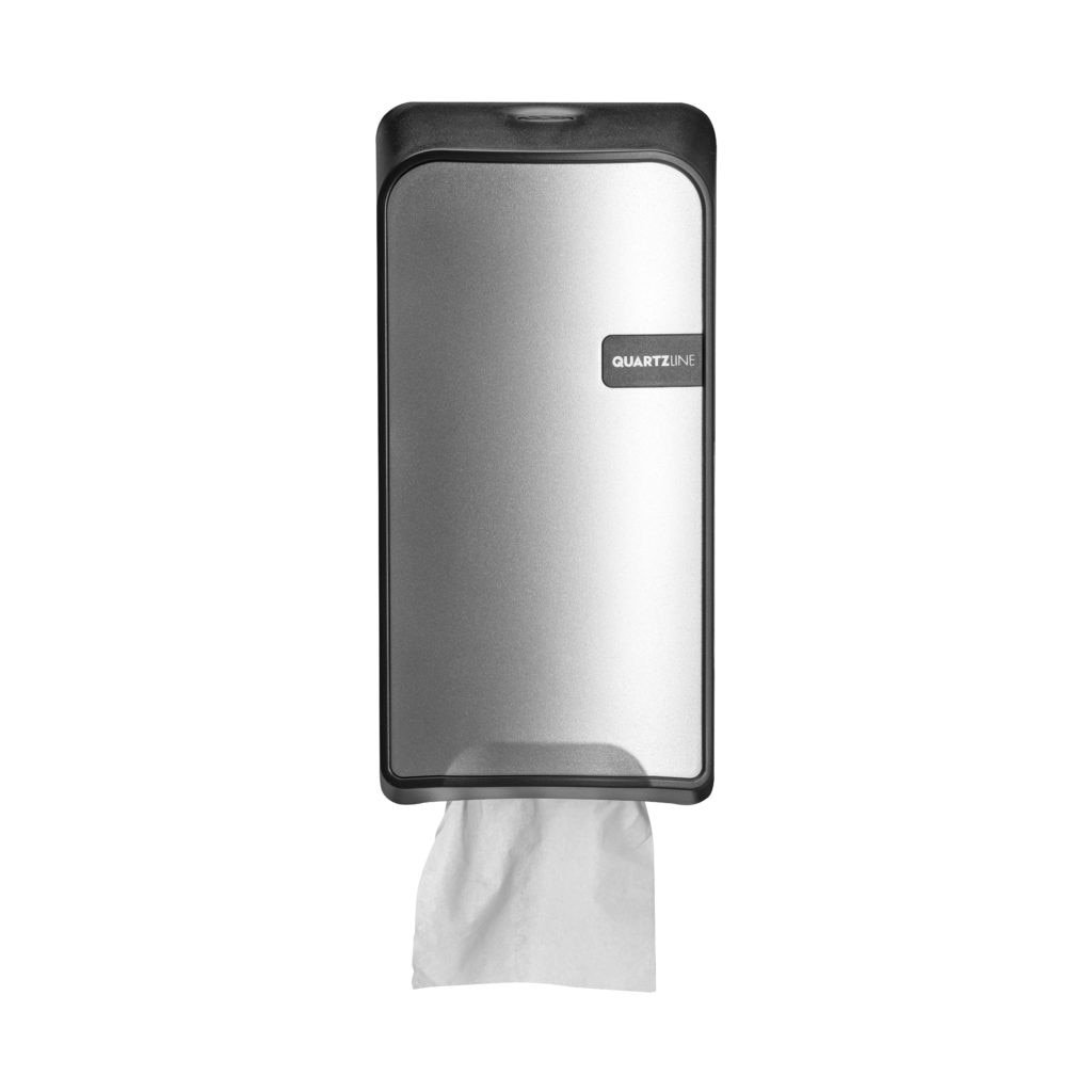 Euro Products | Quartz | Toiletrolhouder | Bulkpack | Zilver