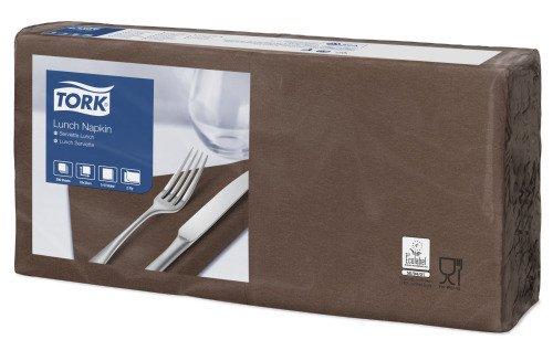 Tork lunch servetten 33x33 cm bruin