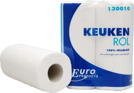 Euro Products | Keukenrol cellulose 2-laags | 16 x 2 rollen