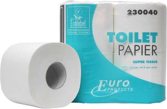 Euro Products | Toiletpapier 2-laags | Tissue Cellulose | Wit | 40 x 400 vel